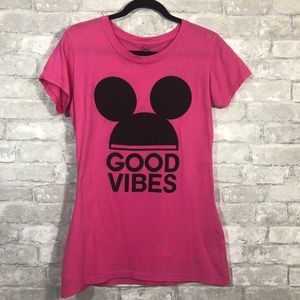 Mickey Mouse Ears Hot Pink Good Vibes